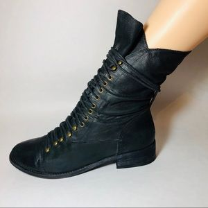 Joie Refugee Lace Up Boots Sz 10